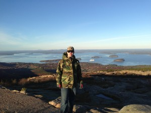 Man on Cadillac Mountain